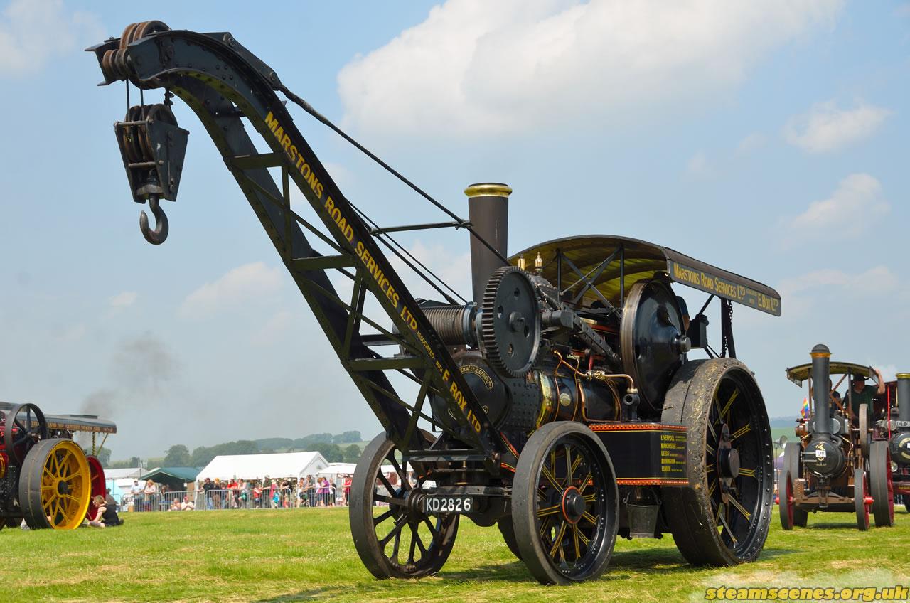"Fowler Crane Engine, 17106 ""Duke of York"", KD 2826, Image 160 - Steam Scenes"