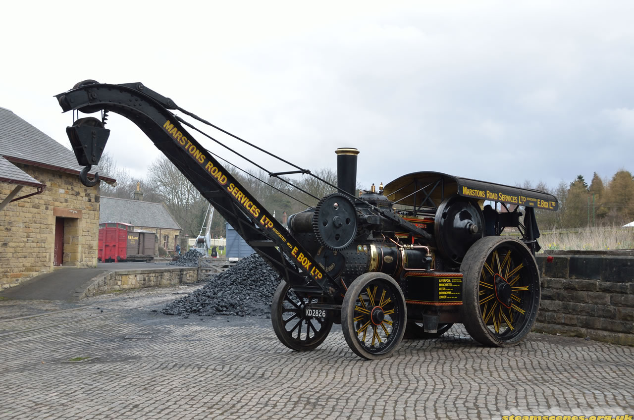 "Fowler Crane Engine, 17106 ""Duke of York"", KD 2826 at Great Northern Steam Fair 2013, Image 13 ..."