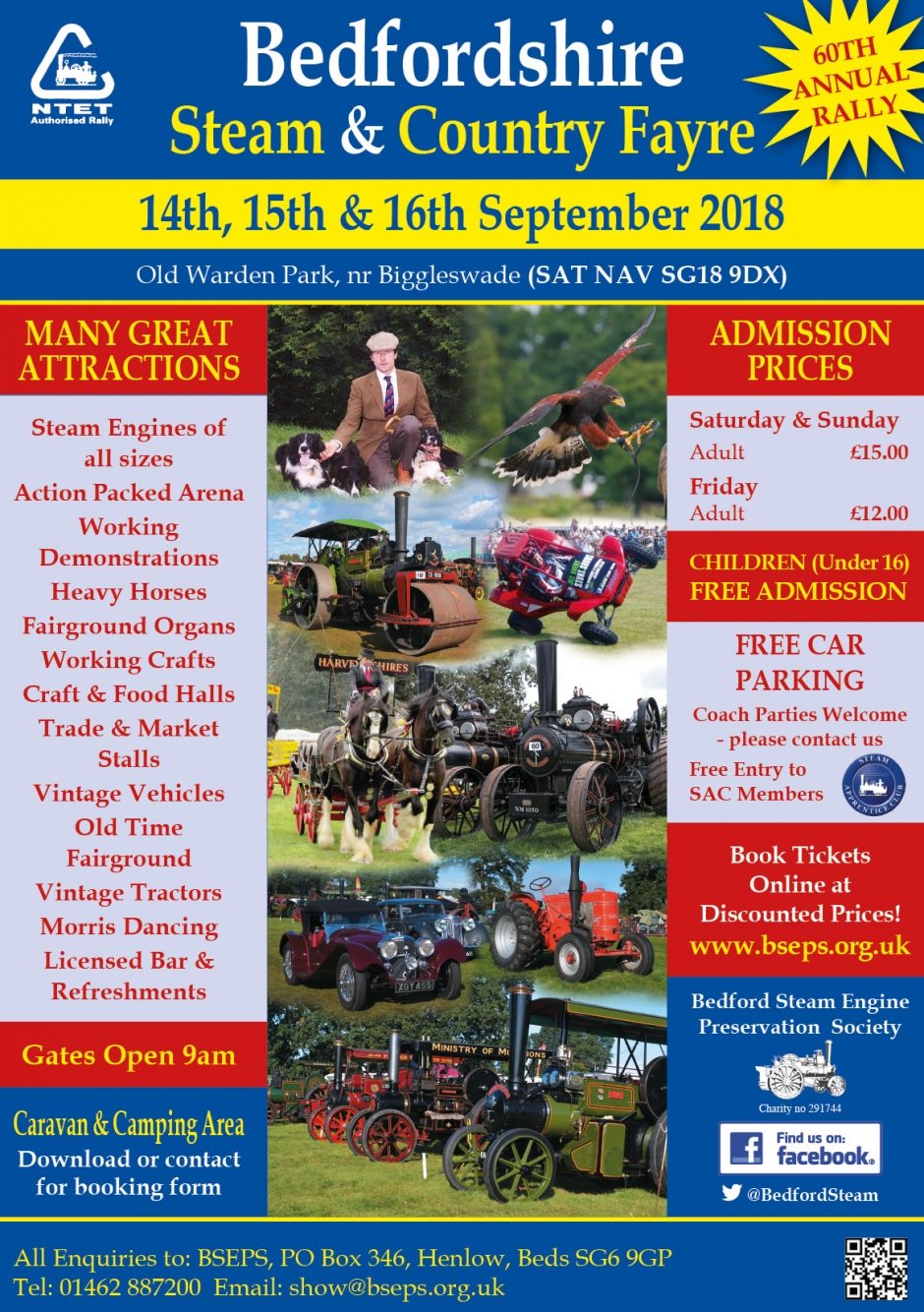 Bedfordshire Steam & Country Fayre - 14th - 16th September